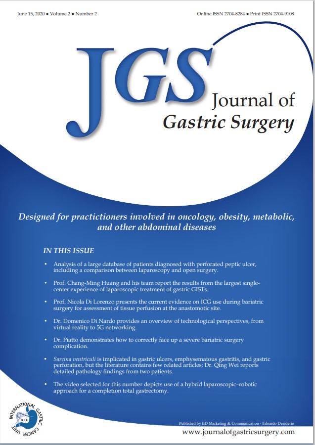 Journal of Gastric Surgery Volume 2 Issue 2